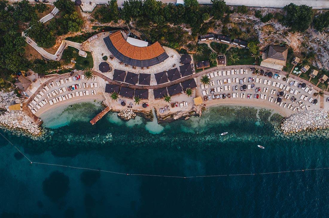 View on the Coral Beach Club from air