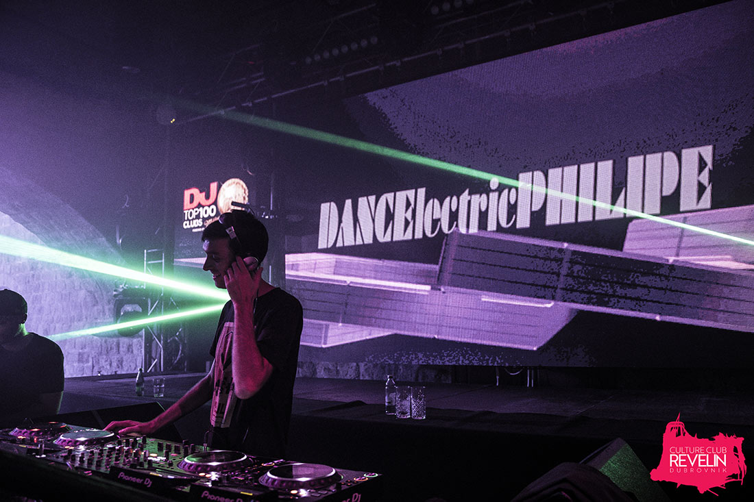 Dancelectric Philipe warming up the crowd before EDX, June 22nd, Revelin Dubrovnik