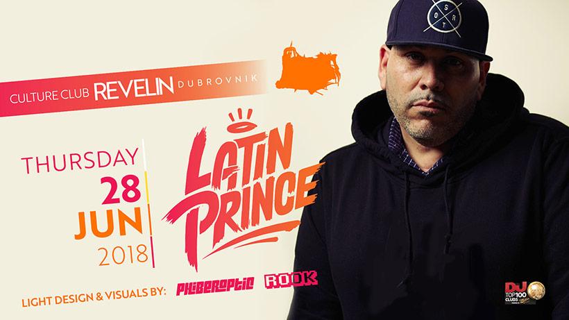 Latin Prince, Phiberoptic and DJ ROOK in nightclub Revelin, Thursday June 28th 2018, Dubrovnik
