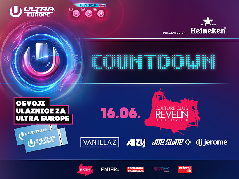 Get tickets for Ultra Europe 2018, Countdown to Ultra Europe, June 16th, Revelin Dubrovnik