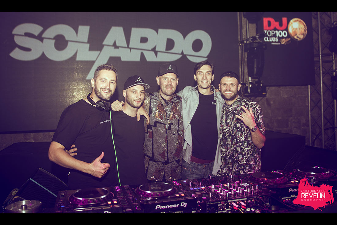 Group DJ photo, SOLARDO, Culture Club Revelin, Dubrovnik