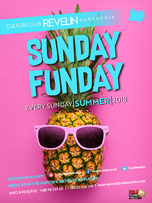 Sunday Funday, club nighs, Revelin, every Sunday