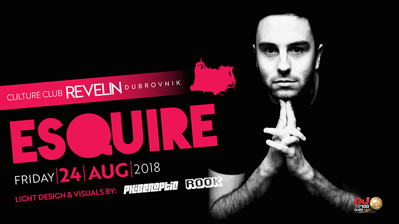 Friday night, August 24th, Esquire performs in Revelin nightclub