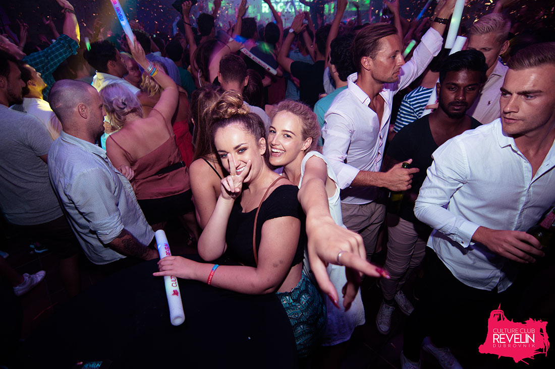 Festival people in Revelin nightclub