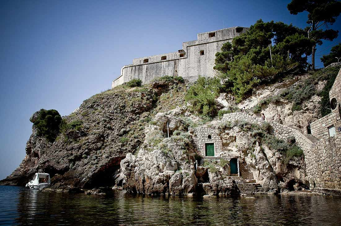 Dubrovnik fortress, hidden beach