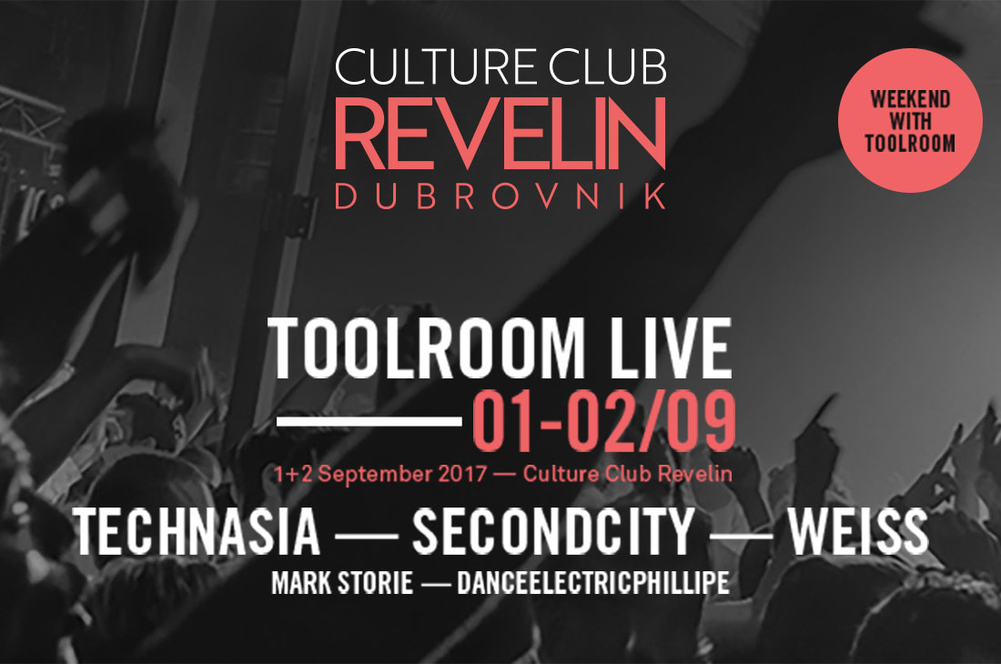 ToolRoom Live, Culture Club Revelin, September 1st and 2nd