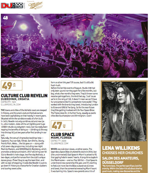 Revelin u top 100 klubova na svijetu, DJ MAG Top 100 Clubs