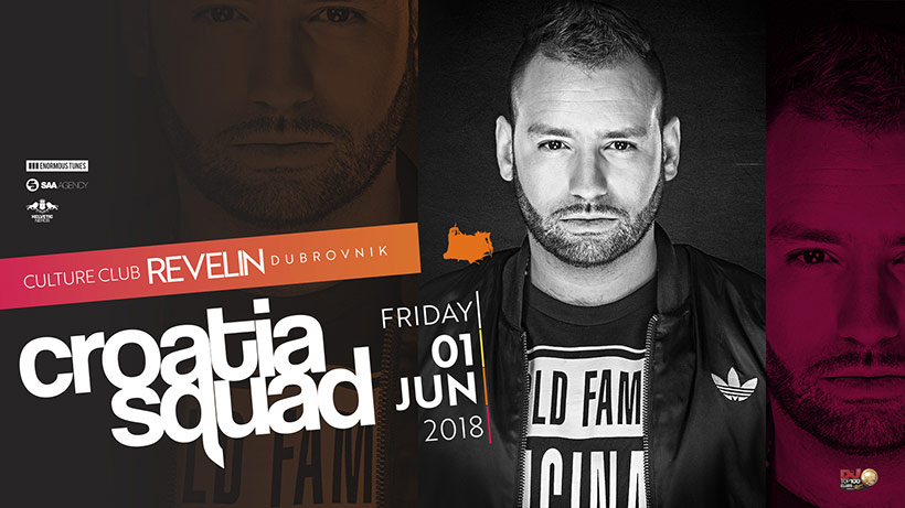 Croatia Squad, Swiss DJ, Friday June 1st, 2018. Culture Club Revelin Dubrovnik