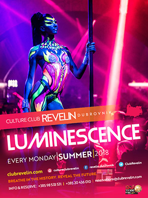 Luminescence, every Monday, Culture Club Revelin