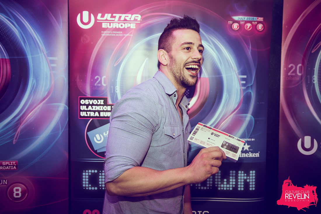 Ultra Europe 2018 lucky ticket winner!, Nightclub Revelin, Countdown to Ultra Europe, June 16th, 2018.