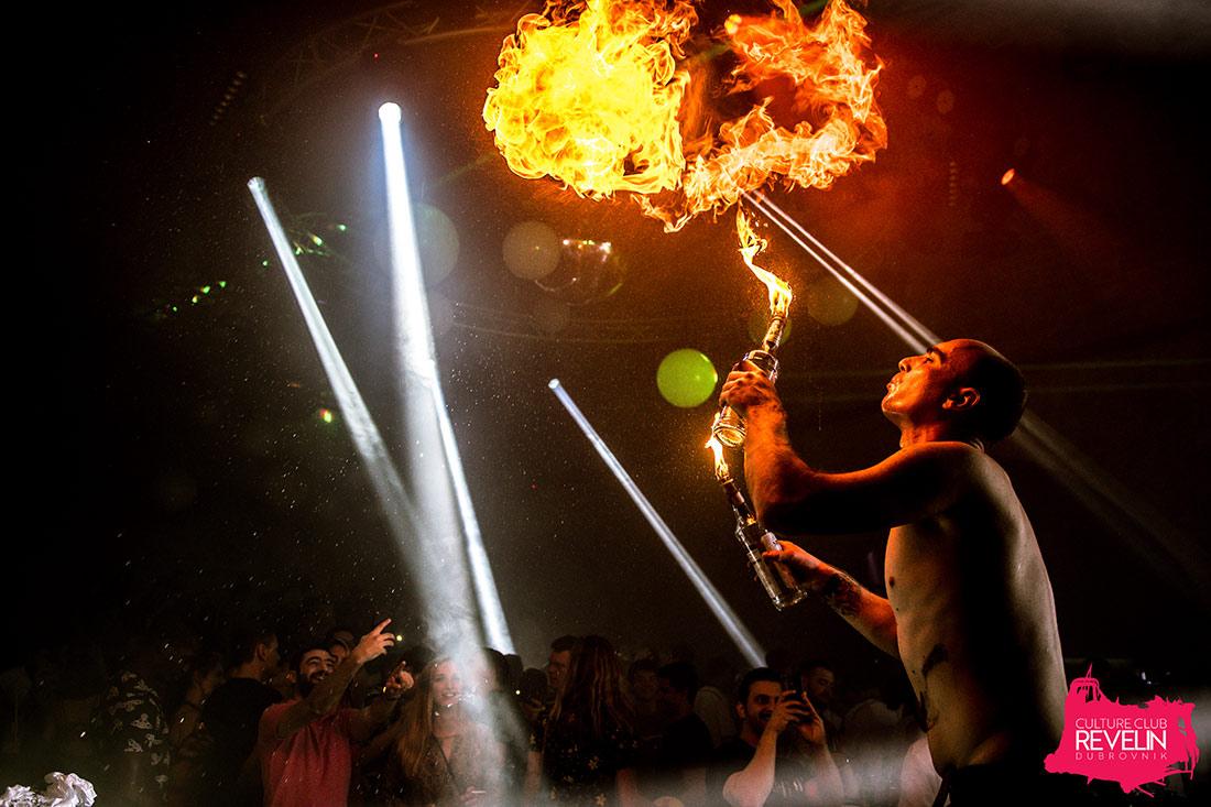 Spectacular flame show, Sunday Funday, Revelin Dubrovnik