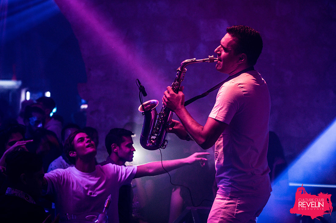 playing the sax, Why Not? June 27th, Revelin club nights