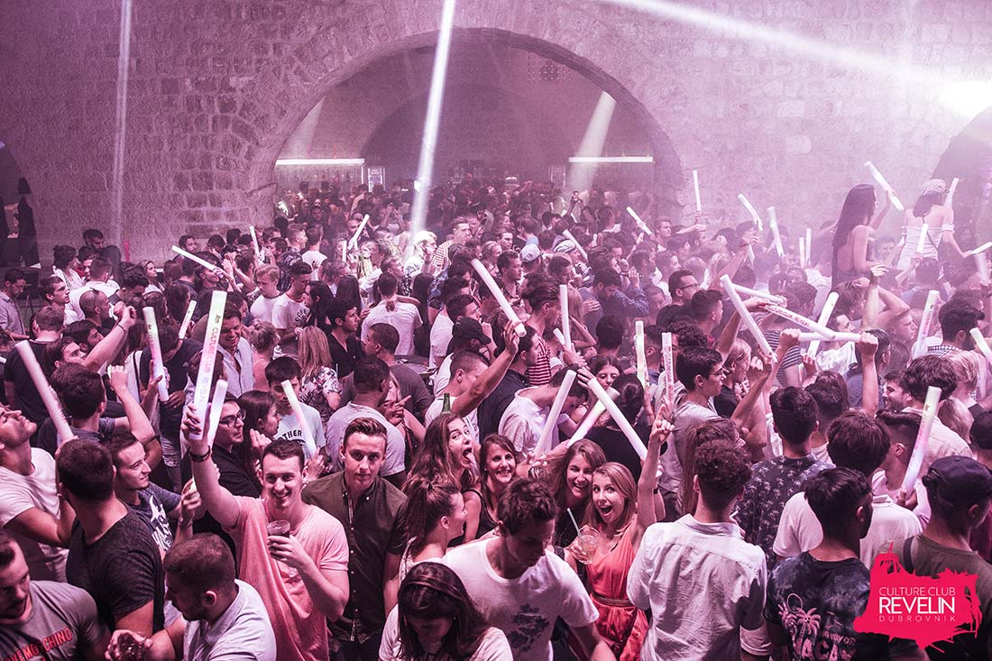audience partying at Camelphat-DANCElectric Residency, Culture Club Revelin Dubrovnik, July 4th 2018
