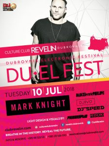Mark Knight at DU EL Fest, July 10th 2018, Revelin nightclub Dubrovnik