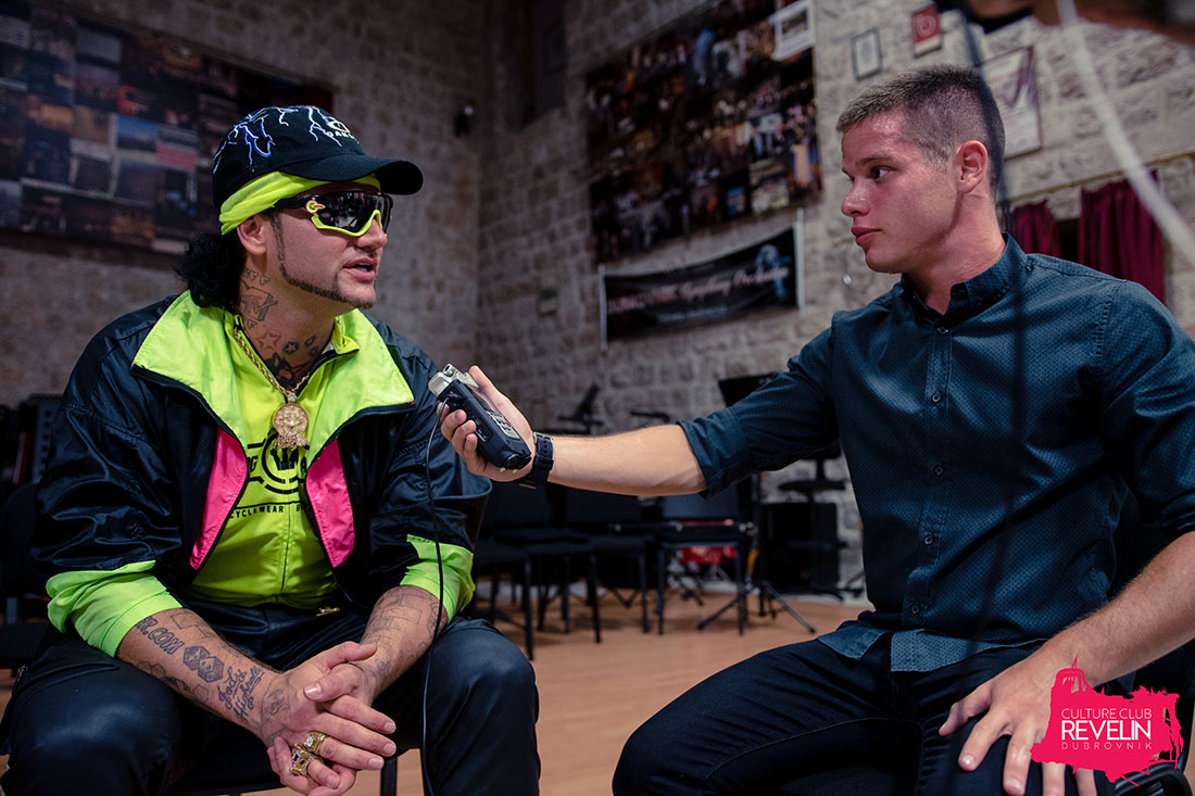 Interview with Riff Raff inside Revelin fortress
