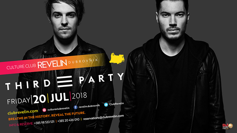 Third Party, famous DJ duo, coming to nightclub Revelin on July 20th 2018