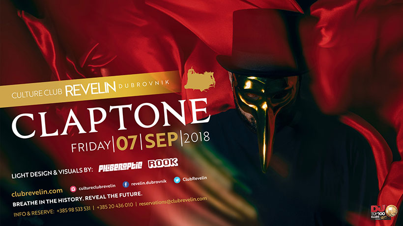 Claptone in Revelin on September 7th, 2018!