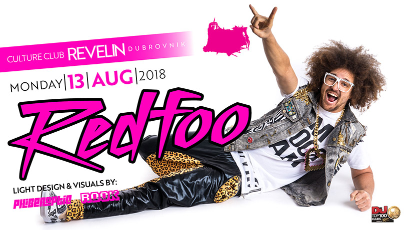 This Monday, August 13th 2018 Redfoo is at Revelin nightclub