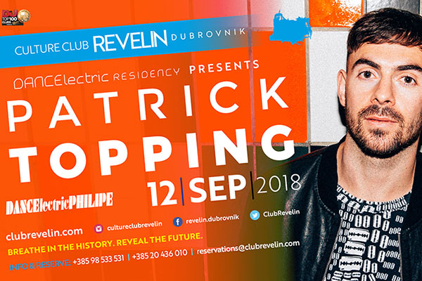 Patrick Topping 12th of September, nightclub Revelin