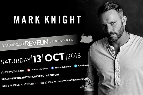 Mark Knight is back at Revelin on October 13th 2018
