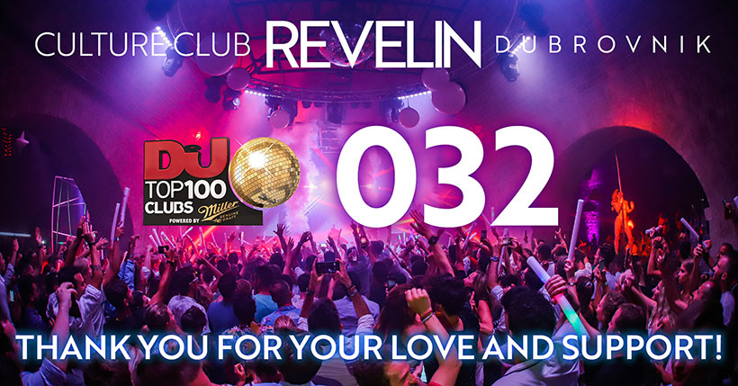 Revelin na 32. mjestu DJ MAG Top 100 Clubs