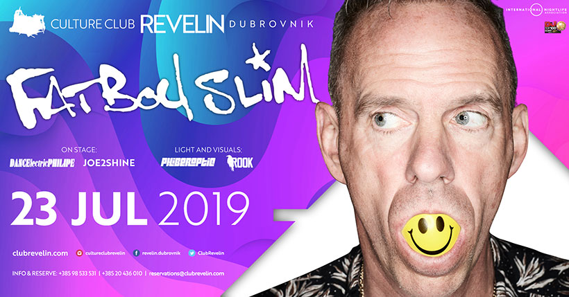 FATBOY SLIM in Revelin again. July 23rd 2019, Dubrovnik