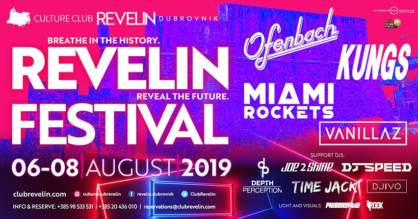Revelin Festival u Dubrovniku, 06-08 kolovoz, 2019.