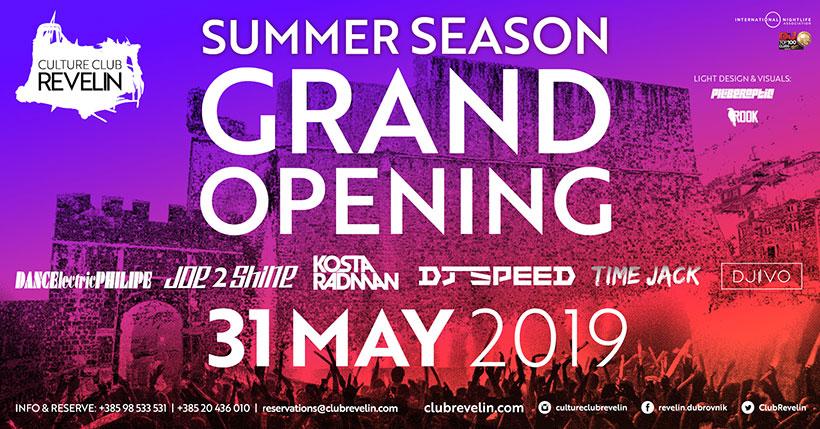 31st of May 2019, Summer Season Grand Opening in nightclub Revelin, Dubrovnik