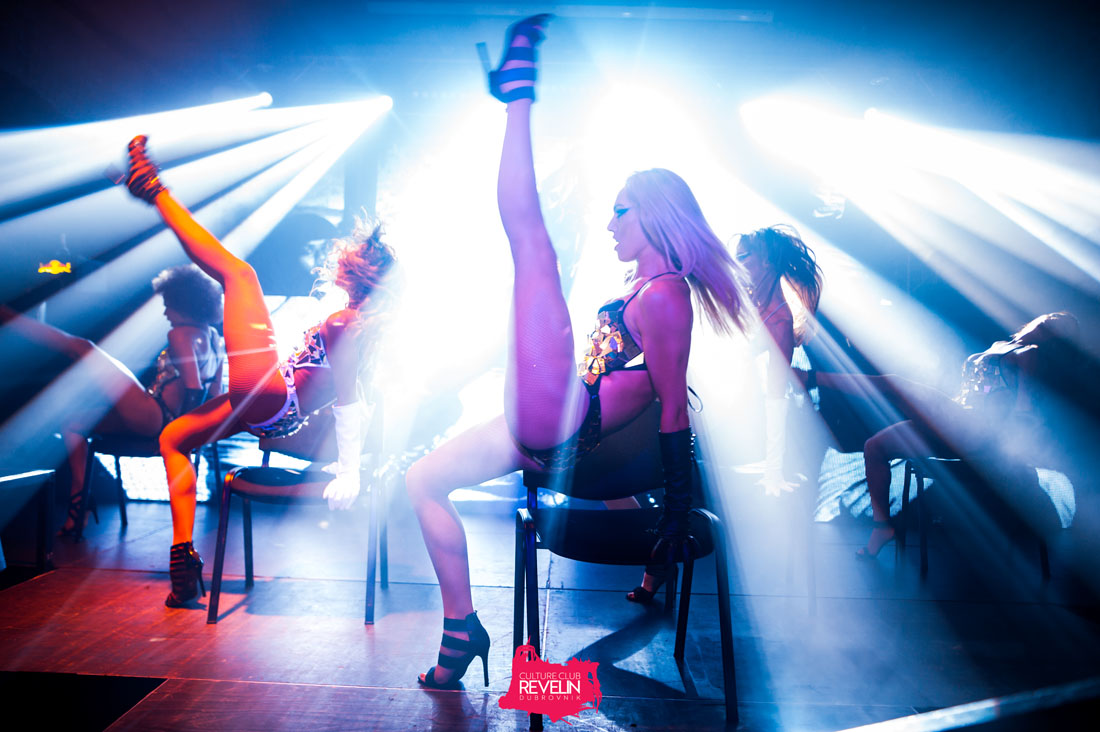 dancers on stage for Revelin's The Vibe club night