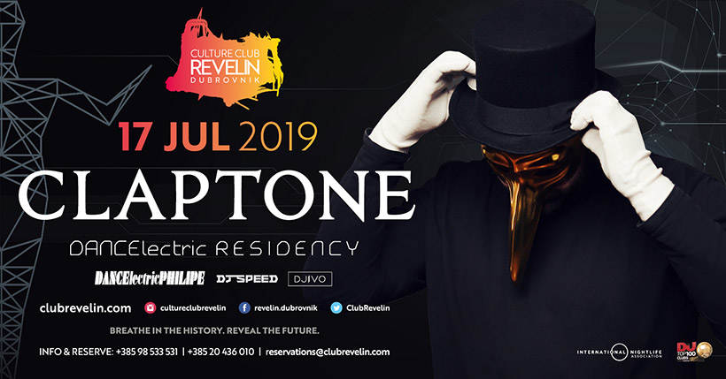 Don't miss Claptone residency at Revelin nightclub