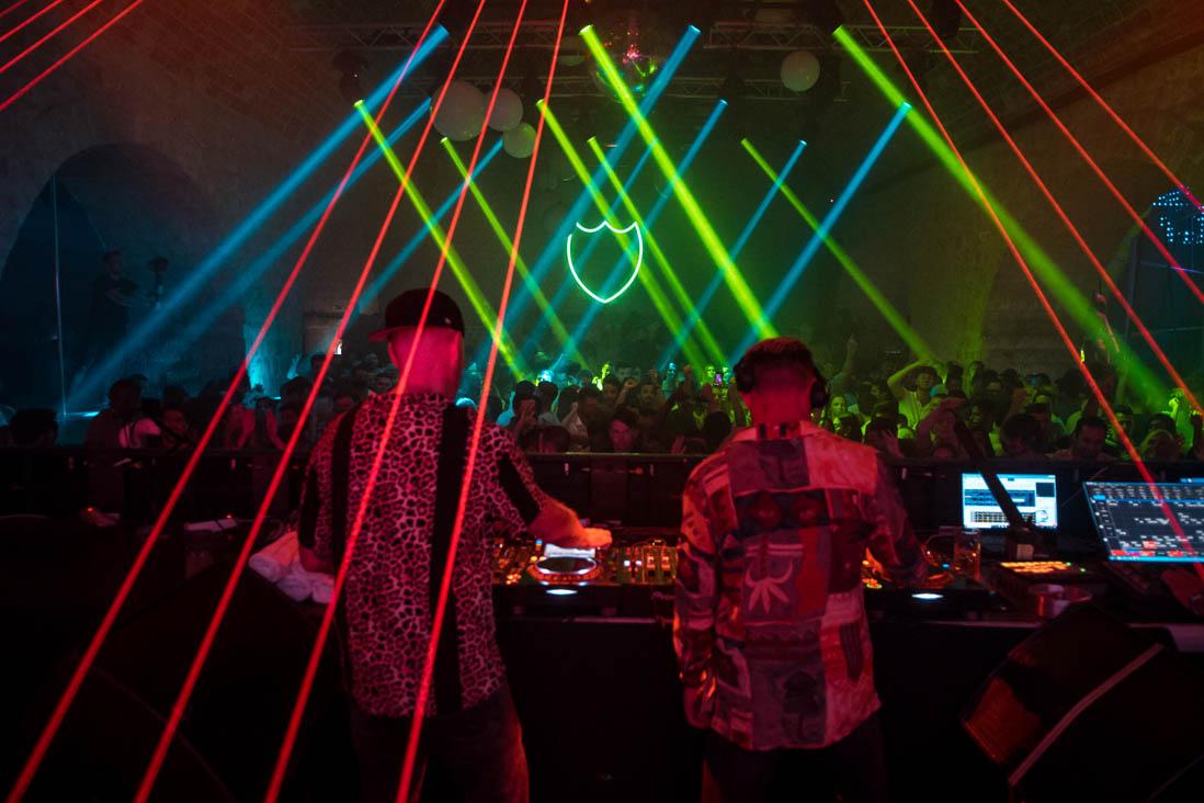 British DJ duo Solardo on stage